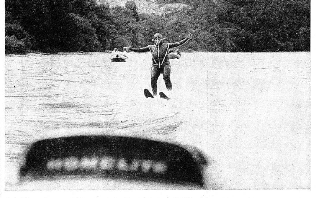 Août 1964: du ski nautique sur le Rhône pour financer une église!